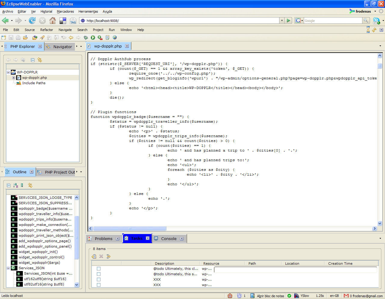 Eclifox - Web Browser-Based Interaction with the Eclipse IDE